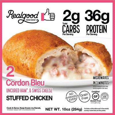 Real Good Frozen Stuffed Chicken Cordon Bleu - 10oz/2ct