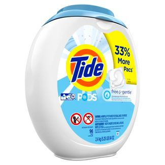 Tide PODS Laundry Detergent Pacs Free & Gentle - 96ct