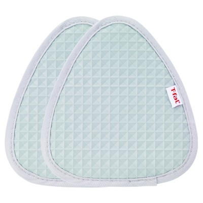 2pk Gray Waffle Silicone Pot Holder (7.5 x8.25 )- T-Fal®
