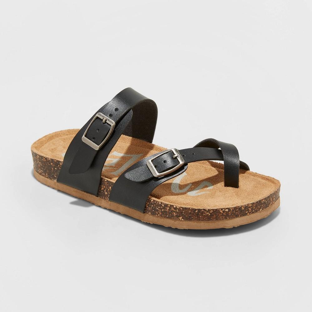 Image of Girls' Mad Love Flynn Footbed Sandals - Black 13, Toddler Girl's