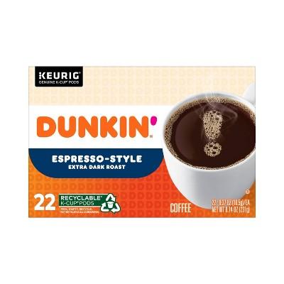 Dunkin' Donuts Expresso Dark Roast Coffee - Keurig K-Cup Pods - 22ct