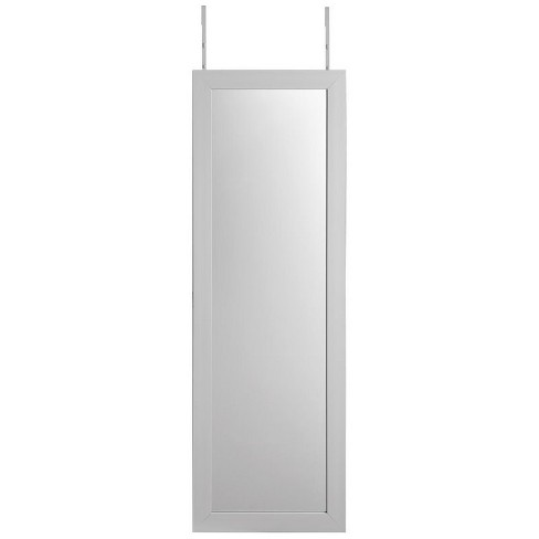 Aaliyah White Full Length Over-the-Door/Wall Mounted Jewelry Armoire in White - Posh Living - image 1 of 3