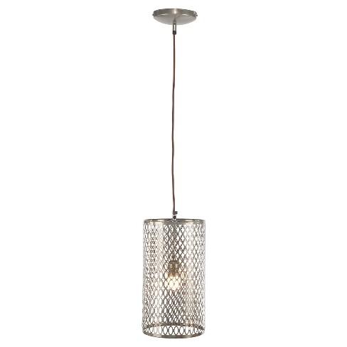 Steel Long Barrel Pierced Pendant Lamp -A&B Home - image 1 of 1