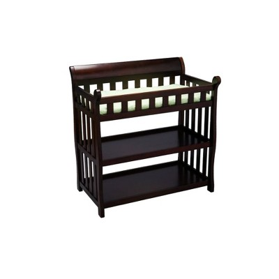 Delta Children Eclipse Changing Table - Black Cherry