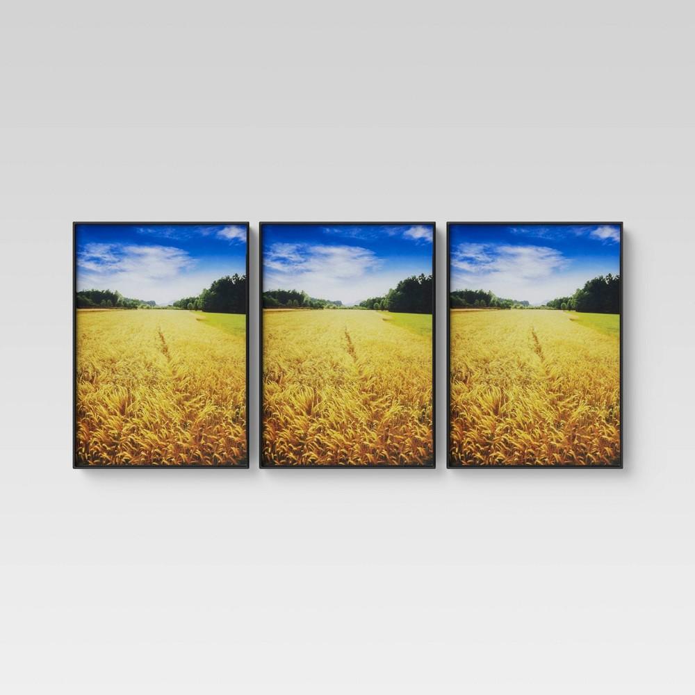 """Image of """"5"""""""" X 7"""""""" Set of 3 Format Frames Black - Room Essentials"""""""