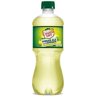 Canada Dry Ginger Ale Soda and Lemonade - 20 fl oz Bottle