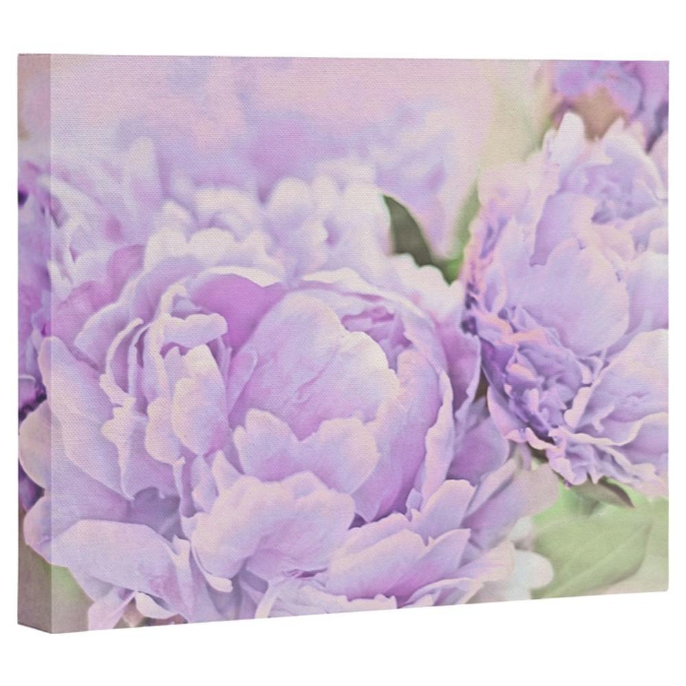 Lisa Argyropoulos Lavender Peonies Art Canvas Deny Designs