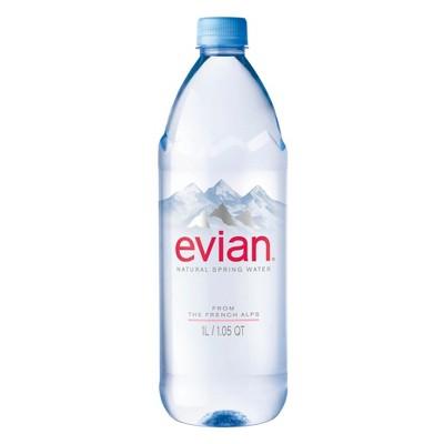 Evian Natural Spring Water - 33.8 floz Bottle