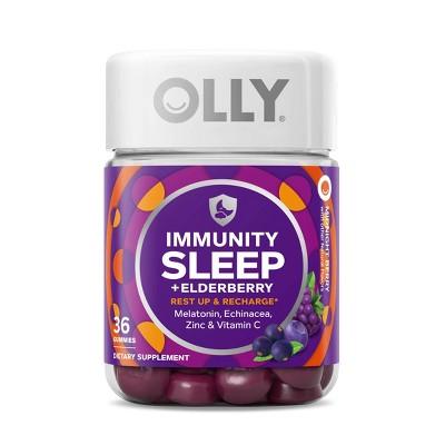OLLY Immunity Sleep Gummies - Elderberry - 36ct