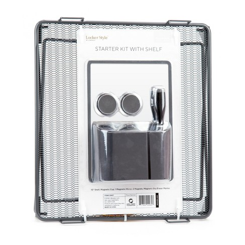 "Locker Accessory Starter Kit with 10"" Shelf Grey - Locker Style - image 1 of 2"