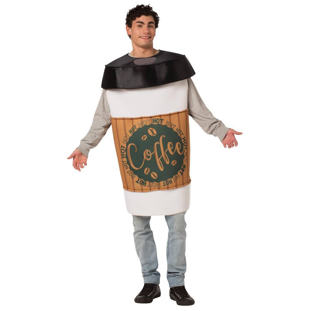 Image of Halloween Adult Coffee To Go Halloween Costume One Size, Adult Unisex, MultiColored