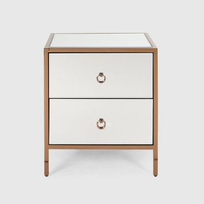 Ardith Glam 2 Drawer Cabinet Mirrored - Christopher Knight Home