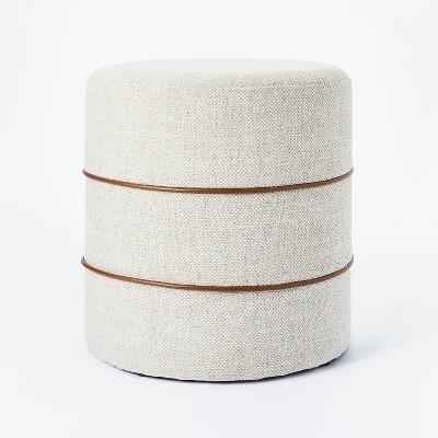 Catalina Mudcloth Round Ottoman - Threshold™ designed with Studio McGee