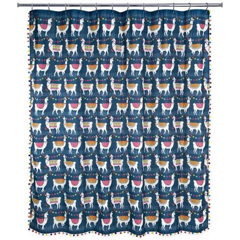 Llamas Shower Curtain Allure Home