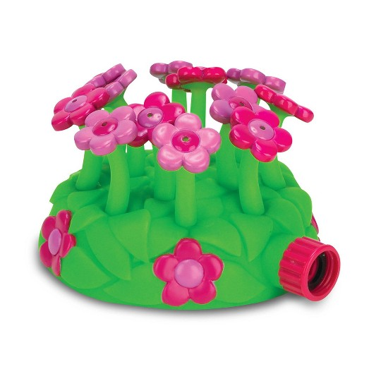 Melissa & Doug Sunny Patch Blossom Bright Sprinkler Toy With Hose Attachment, Kids Unisex image number null