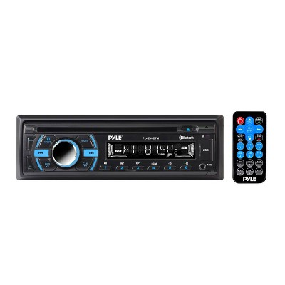 Pyle PLCD43BTM Single DIN Marine Bluetooth Receiver, Stereo System & CD Player w/ Remote Control, Hands Free Calling & Detachable Face, Black (2 Pack)