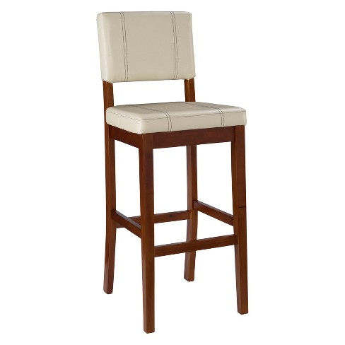 Milano Padded Bar Stool Upholstered Seat & Back -<br> Linon - image 1 of 7