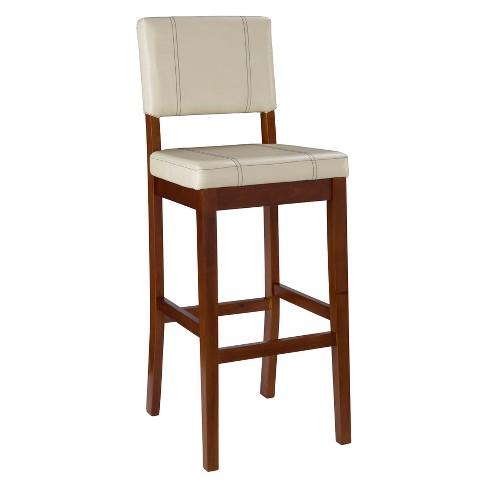 Fine Milano Padded Bar Stool Upholstered Seat Back Linon Machost Co Dining Chair Design Ideas Machostcouk
