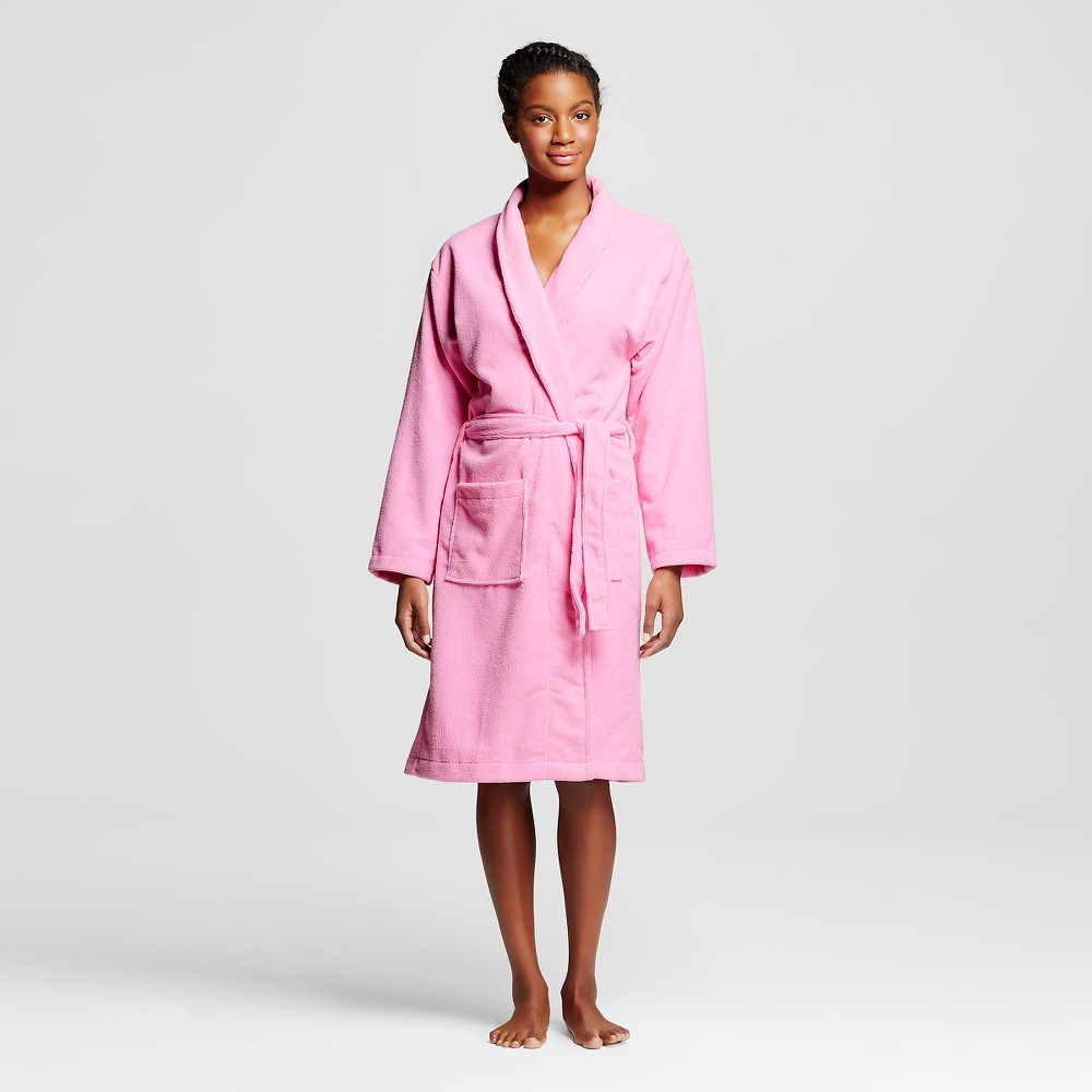 Hotel Spa Women's French Terry Robe - Pink S/M