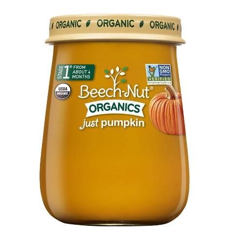 Beech-Nut Organics Just Pumpkin Baby Food Jar - 4oz - image 1 of 3