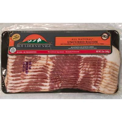 Boulder Sausage Uncured Bacon - 12oz