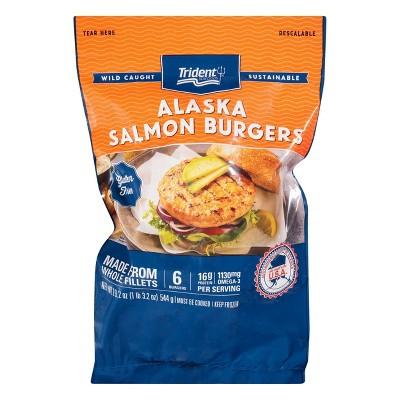 Trident Wild Caught Alaska Salmon Burgers - Frozen - 6pk/19.2oz