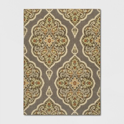 Gray Medallion Tufted Accent Rug 4'X5'6  - Threshold™