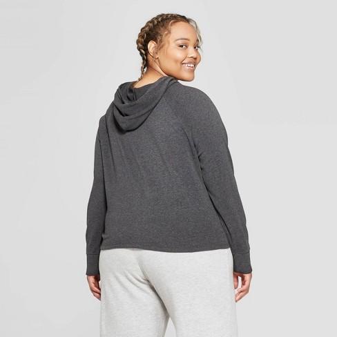 906ae2663b7 Women s Plus Size Fleece Lounge Hoodie Sweatshirt - Colsie™   Target