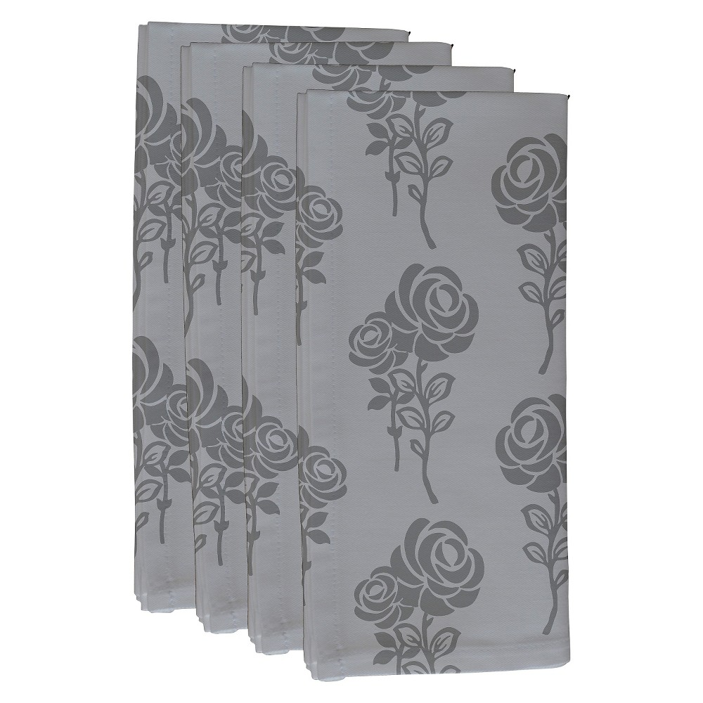 Gray Carmen Floral Print Napkin Set (19