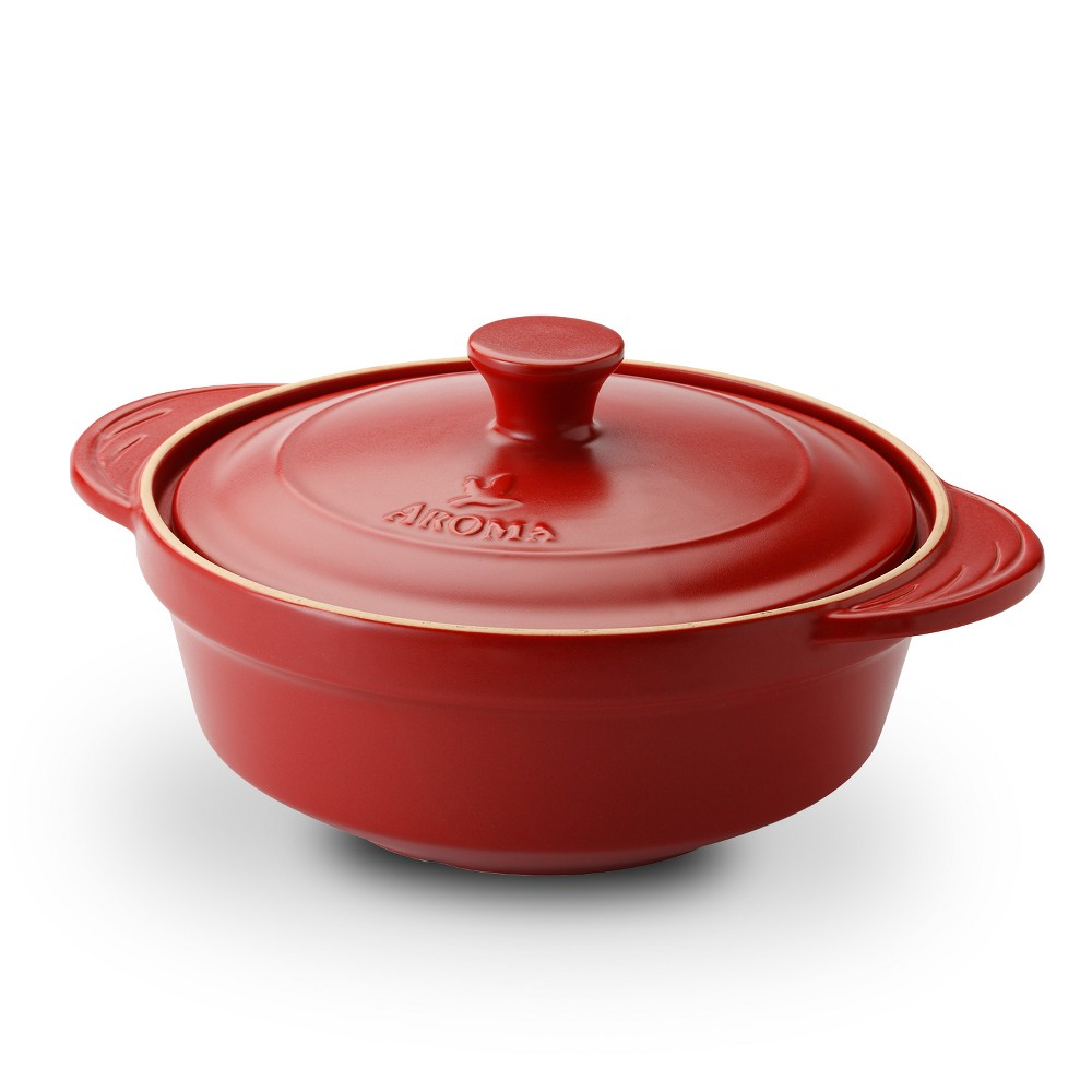 Image of Doveware 2.5qt Ceramic Stewpot Red