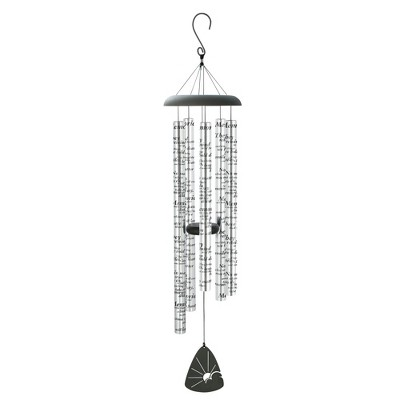Carson Home Accents 44 Inch Memories Sonnet Outdoor Garden Metal Wind Chime