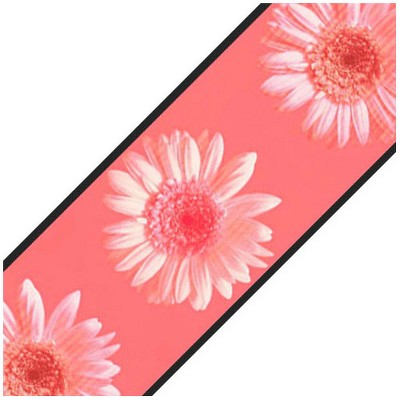 Pink Daisy Flowers Prepasted Wallpaper Border Roll - Surestrip..