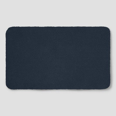 Perfectly Soft Nylon Solid Bath Rug Navy Blue - Opalhouse™