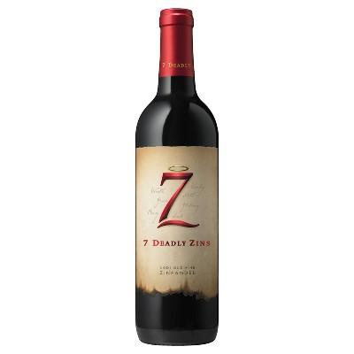 7 Deadly Zins Old Vine Zinfandel Red Wine - 750ml Bottle
