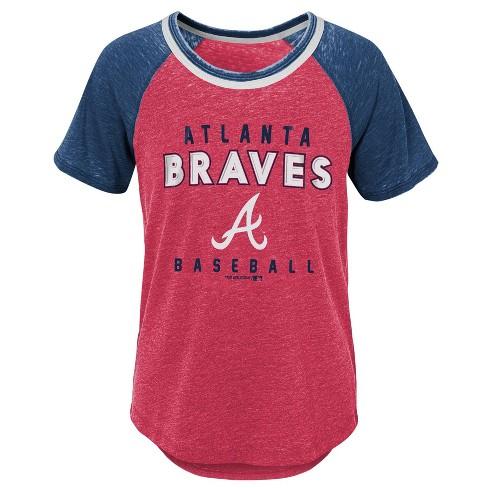 69028070b3b MLB Atlanta Braves Girls  Burnout Alt T-Shirt   Target
