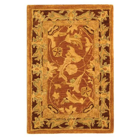 Brown Plum Floral Tufted Accent Rug 2 X3 Safavieh Target