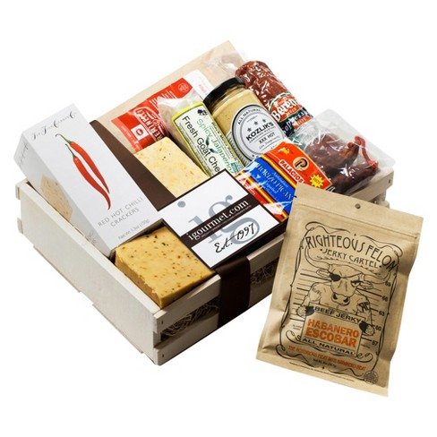 igourmet Spicy Gourmet Meat and Cheese Gift Crate - image 1 of 1