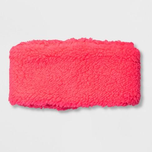 Girls  Fleece Headband - Cat   Jack™ Pink One Size   Target 4bc4ce11bbb