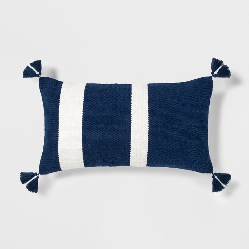 Fabulous Stripe Throw Oversize Lumbar Pillow Blue White Threshold Evergreenethics Interior Chair Design Evergreenethicsorg