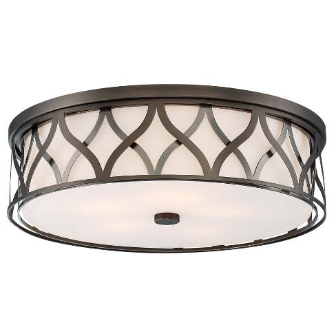 "Minka Lavery 1840-L LED 20"" Wide Flush Mount Drum Ceiling Light - image 1 of 1"