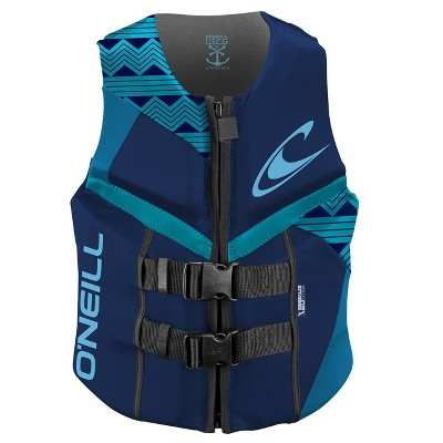 O'Neill High-Quality Women's Reactor USCG Approved Buoyant Life Jacket Safety Vest, Navy Blue, Size 10