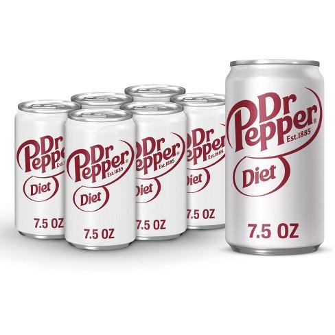Diet Dr Pepper Soda - 6pk/7.5 fl oz Cans - image 1 of 4