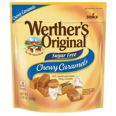 Werther's Original Sugar Free Chewy Caramels Stand Up Bag – 7.7oz
