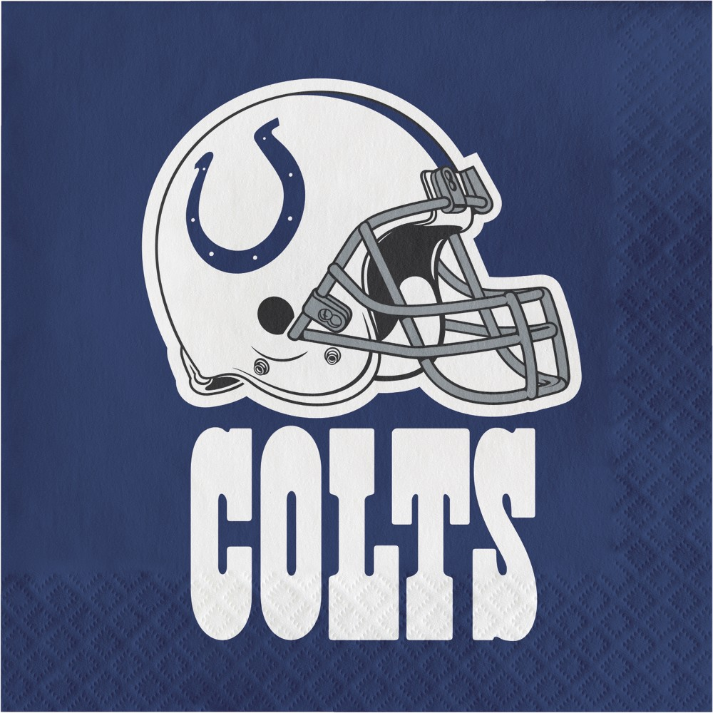 16ct Indianapolis Colts Napkins, Multi-Colored