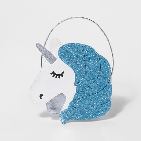 887c3f9c3e4 Toddler Girls  Glitter Unicorn Satchel Handbag - Cat   Jack™ White ...