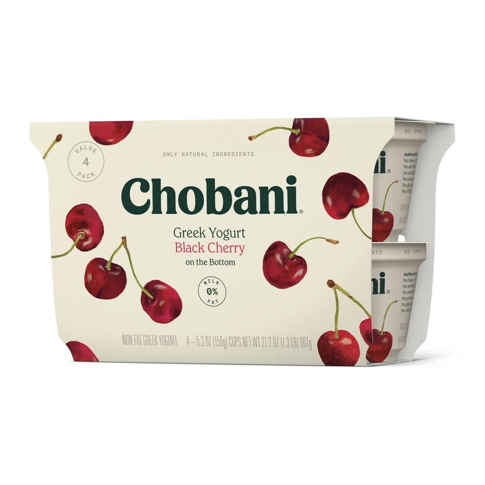 Chobani Black Cherry on the Bottom Nonfat Greek Yogurt - 5.3oz/4pk