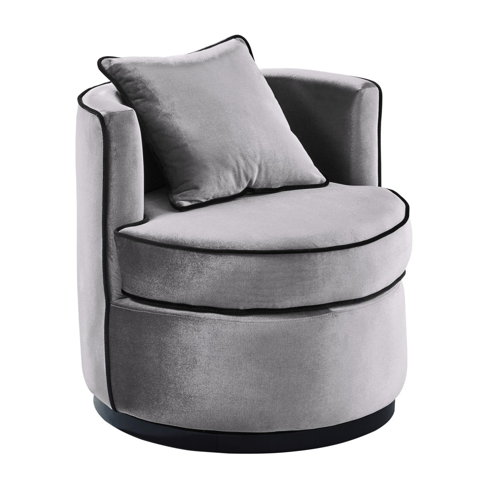 Armen Living Truly Contemporary Swivel Chair Gray