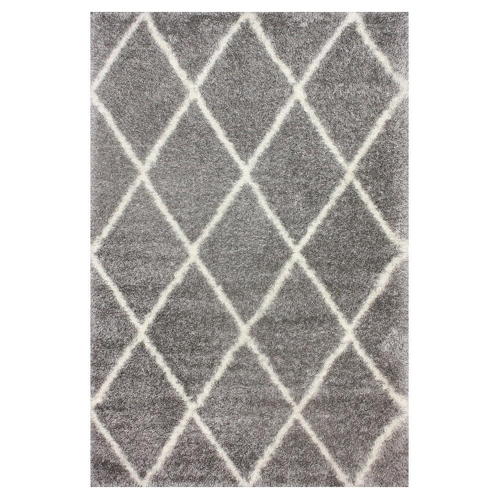 nuLOOM Diamond Shag Area Rug - Gray (9' 2 x 12'), Grey