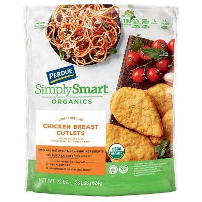 Perdue Simply Smart Organics Lightly Breaded Chicken Breast Cutlets - Frozen - 22oz