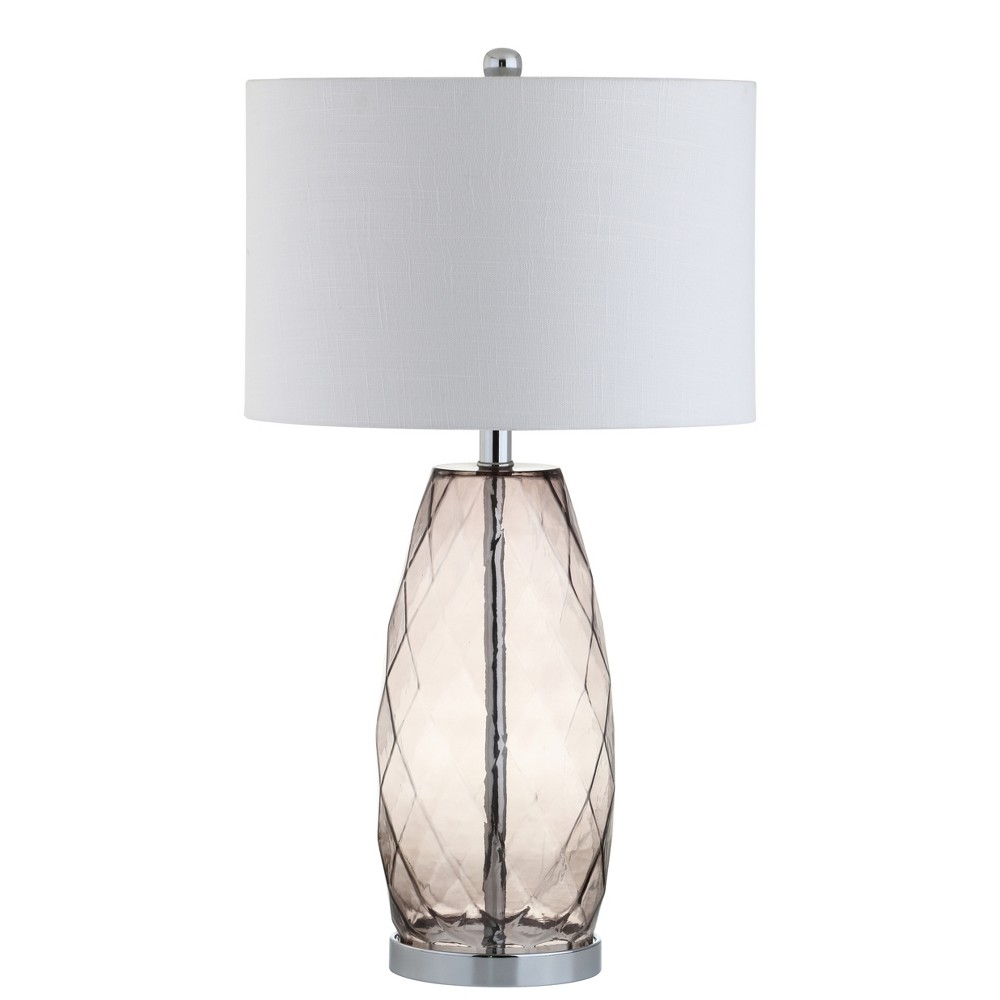 26.5 Juliette Glass/Metal Led Table Lamp Gray - Jonathan Y